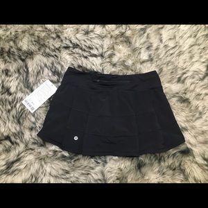 NEW Lululemon pace rival skirt black 6